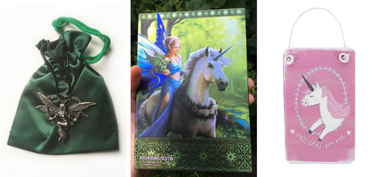 Elf Heart Pendant, Unicorn Journal & Mini Unicorn's are Real sign