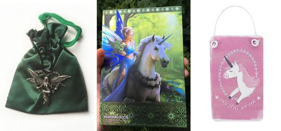 Elf Heart Pendant, Unicorn Journal & Mini Unicorn's are Real sign