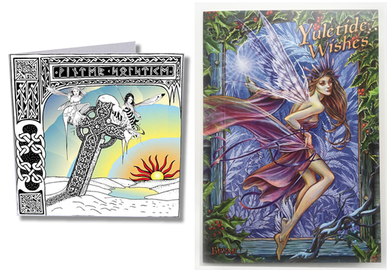 Exclusive Celtic Greetings card &  Yule Greetings Cards by Briar